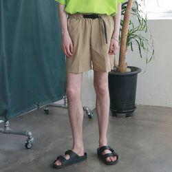 [무료배송] Utility Washed Linen Short Pants Beige