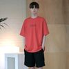 Initials Logo Oversize T-shirts Coral
