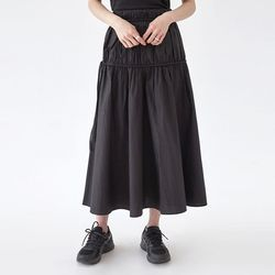 rolly wrinkle long skirt (s m)