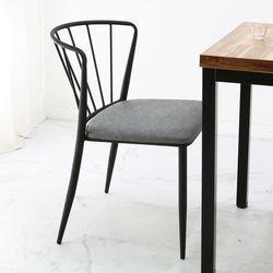팬체어- 식탁의자 블랙체어 심플의자