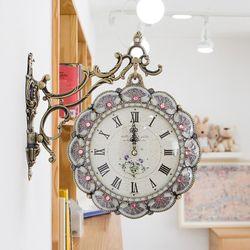 부채꼴 양면시계 SUN-201