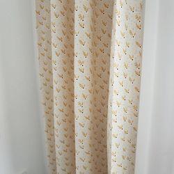 마들렌 꽃무늬 작은창 커튼 - M사이즈