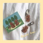 [뮤즈무드] flower bear key ring (키링)