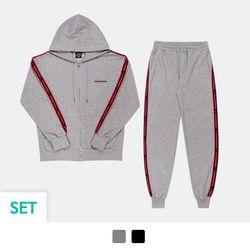 [SET] 테이핑 후드집업 + 테이핑 조거 팬츠