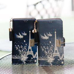 아이폰8플러스 Encanto-Eiffel2-T 지퍼 지갑 다이어리 케이스