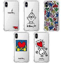 스키누 x  Keith Haring 투명케이스-갤럭시 S10 5G