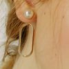 338 PEARL ROUND EARRING [GOLD]