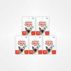 저알러지 기능성 고양이간식 헬시츄 연어맛 30스틱 (5봉 240g)