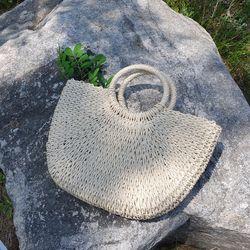 Moonlight straw bag