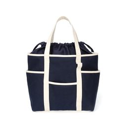 Cafe Tote Canvas (Navy Ecru 2)