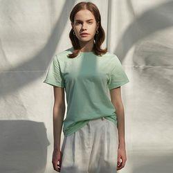코튼 1 2 티셔츠 (라운드 ver.) (5 colors)