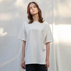 코튼 1 2 박시핏 티셔츠 (3 colors)