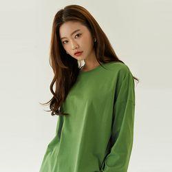 코튼 슬릿 티셔츠 (라운드 ver.) (3 colors)