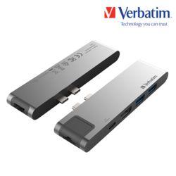 버바팀 7in1 듀얼C HDMI,USB3.0,RJ45,카드리더기