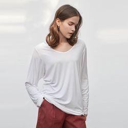 레이온 롱슬리브 티셔츠 (브이넥 ver.) (2 colors)