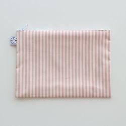 핑크우유 스트라이프 파우치(M)