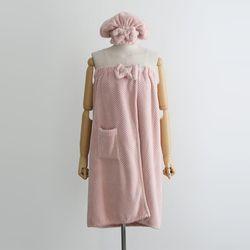 Towel Gown Set - 헤어밴드포함