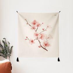 벚꽃 일러스트 패브릭 포스터.가리개 커튼 (행잉L 사이즈)