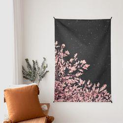 벚꽃 일러스트 패브릭 포스터.가리개커튼 (태피스트리)