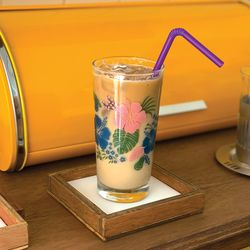 커먼키친 with Rena Retro Hawaiian flower Glass