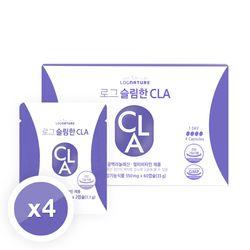 로그 슬림한 CLA 공액리놀레산 4박스 240캡슐 60일분