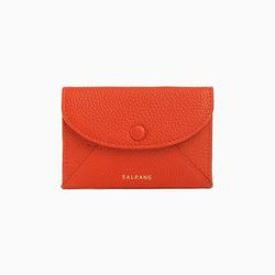 W019 엔벨롭 카드 명함 지갑 레드오렌지