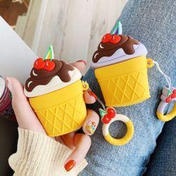 에어팟케이스 1 2세대 아이스크림 실리콘 고리 키링
