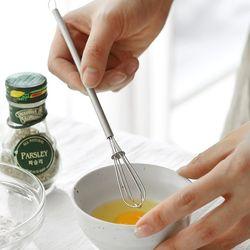 스텐 미니 계란 우유 거품기