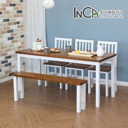 라네즈 북유럽풍 소나무원목 6인 식탁세트