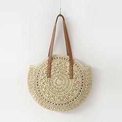 Rattan Round Shoulder Bag