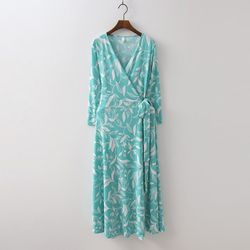 Rosemary Wrap Long Dress - 긴팔