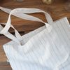 linen stripe ecobag