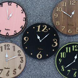 못없이 설치하는 인테리어 입체 무소음벽시계 벽걸이시계
