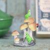 버섯위 개구리 화분장식 미니어쳐