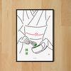 유니크 일본 디자인 인테리어 포스터 M 말차2 A3(중형)