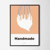 유니크 디자인 인테리어 포스터 M 핸드메이드 생크림 A3(중형)
