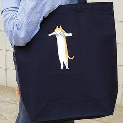 토트백 Long cat series (navy)