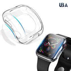 UBA 애플워치 클리어 젤리케이스 워치 보호케이스 40mm 44mm