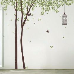 ph427-자작나무숲오픈앤클로즈그래픽스티커