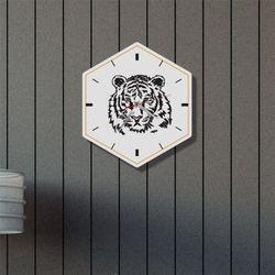 nb091-인테리어벽시계-액운쫓는백호정면