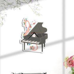 nb078-인테리어벽시계-연주하는피아노