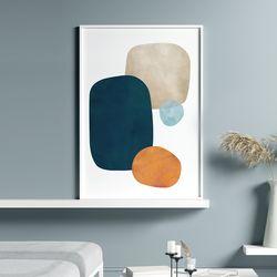 콜라주 추상화 그림 인테리어 액자 A3 포스터