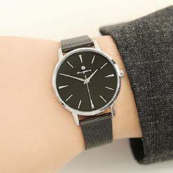 [Timepieces] 시크블랙 남성용 커플 메쉬시계 OTC118T21TSB
