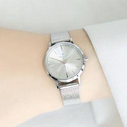 [Timepieces] 심플 실버 여성용 커플 메쉬시계 OTC218T31TSS