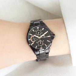 [Timepieces] 모던 블랙 여성용 커플 메탈시계 OTC219503FBB