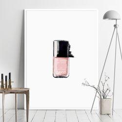 핑크네일 패션 그림 인테리어 액자 A3 포스터