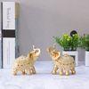 골드 코끼리장식품 E-G101 소 2P SET 인테리어장식소품