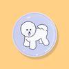 비숑 강아지 스마트톡 그립톡 거치대