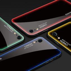 아이폰 케이스 컬러 라인 강화유리 소프트 하드 커버