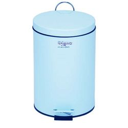 데코 페달 무소음 휴지통 용량 8리터 블루 컬러